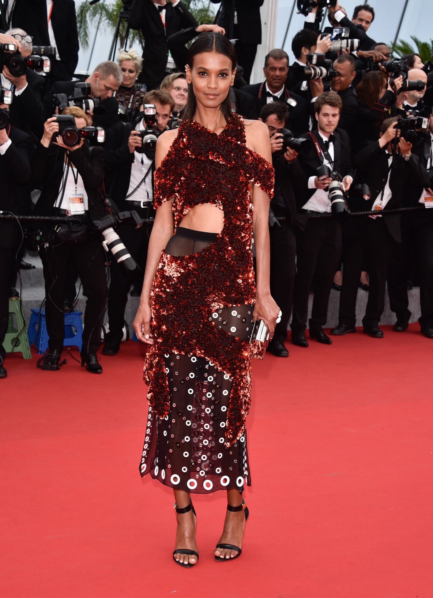 Liya Kebede wearing look 43 from Proenza Schouler a/w 2015 collection. Source: style.com