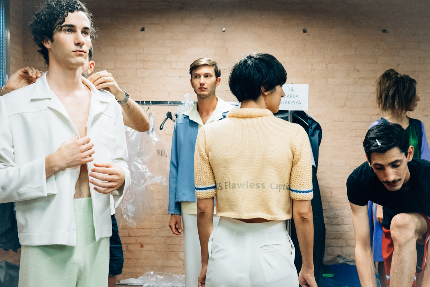 Backstage Fashion at IUAV 2015 graduation show. Source Augusto Maurandi