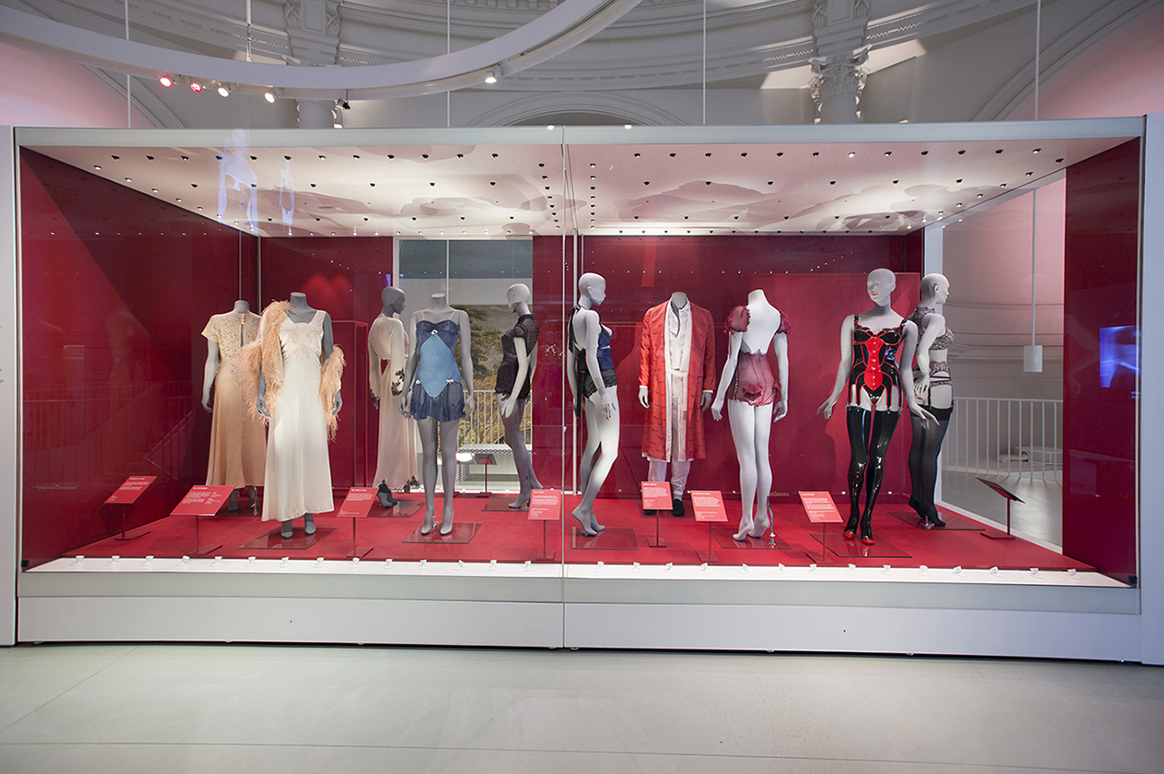 Installation view of Undressed A Brief History of Underwear. Source: Victoria and Albert Museum, London