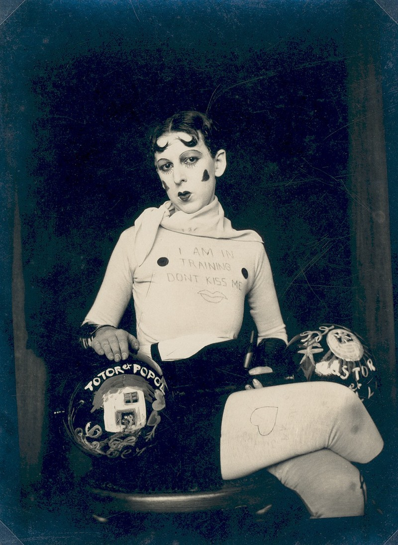 I am in training don't kiss me by Claude Cahun (c. 1927)