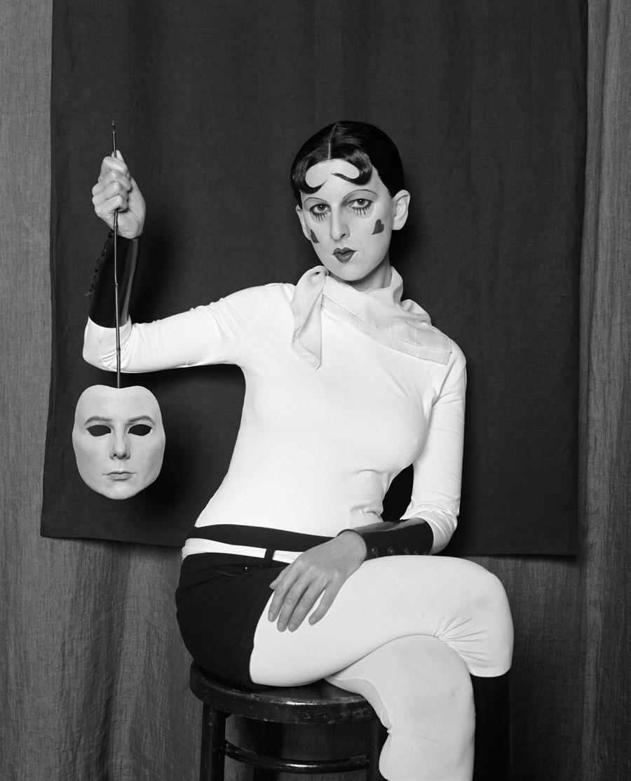 Me as Cahun holding a mask of my face by Gillian Wearing (2012)