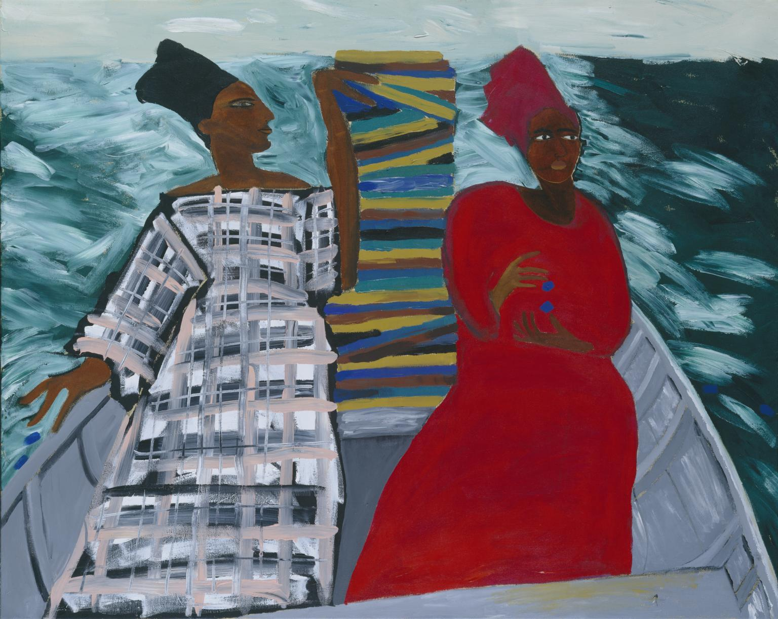 Between the Two my Heart is Balanced 1991 Lubaina Himid born 1954 Presented by the Patrons of New Art (Special Purchase Fund) through the Tate Gallery Foundation 1995 http://www.tate.org.uk/art/work/T06947