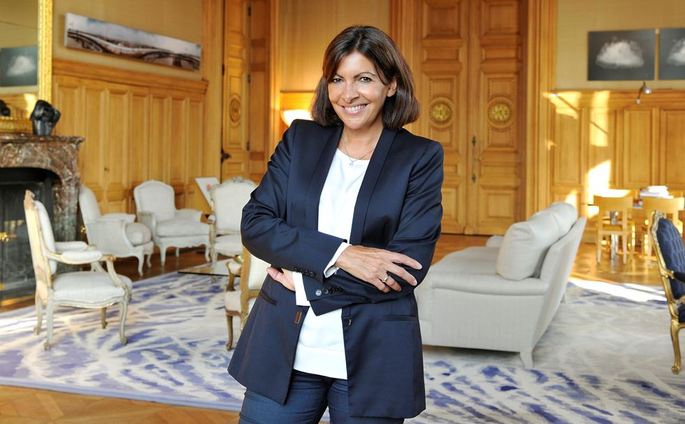 Anne Hidalgo, Mayor of Paris. Source: Dominique Maître/ Women's Wear Daily