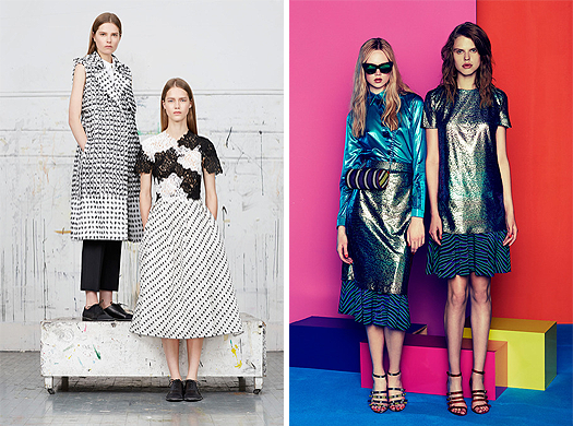 Erdem, Resort 2015, Look 3 & House of Holland, Resort 2015, Look 8 , Source: style.com