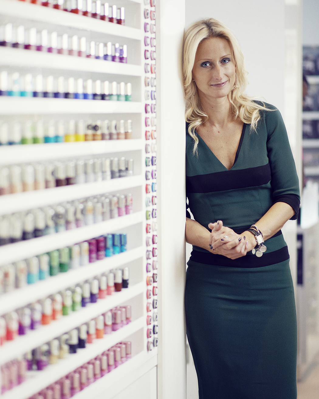 Thea Green MBE, Founder and Managing Director of Nails Inc. Source: Andy Lo Po